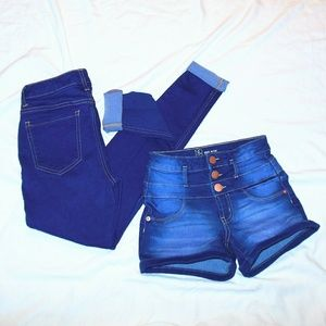 Bundle of No Boundaries Shorts & Pants Size 1